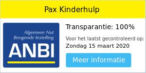 Anbi-status Pax Kinderhulp