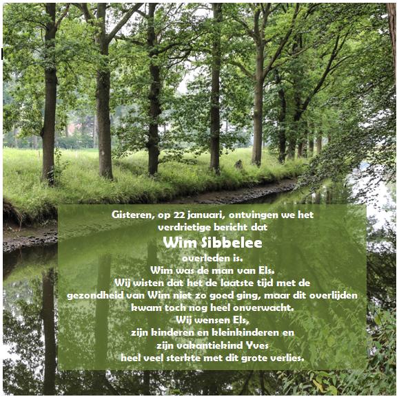 overlijden Wim Sibbelee