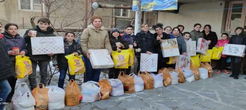 voedselpakketten voor Stepanavan